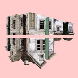 Metal Travel Mug - pink house!!! - franciscomffonseca