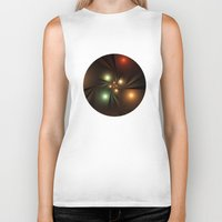 lights Biker Tanks featuring Lights by Klara Acel