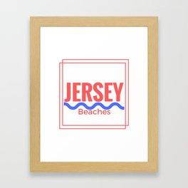 Jersey Beaches Graphic Framed Art Print
