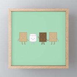 Life is S'more Fun Together (Mint) Framed Mini Art Print
