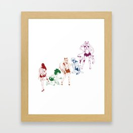 Pretty Sailor Soldiers Framed Art Print