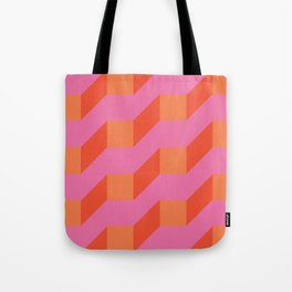 Retro geometry bright pattern no10 Tote Bag
