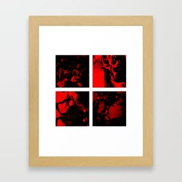 Victory - red and black abstract square art Framed Art Print