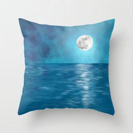 Mar Luna + Donation for Marine Conservation Throw Pillow