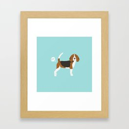 Beagle funny fart dog art cute pet gifts pure breed lovers Framed Art Print