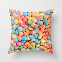 Sweet & Sour Pastel Candy Tarts Pattern Throw Pillow