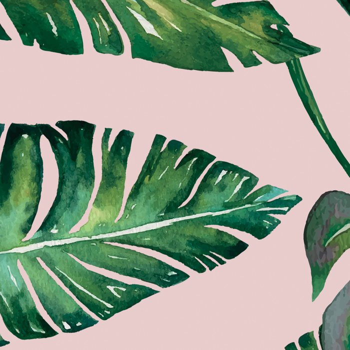 Jungle Leaves, Banana, Monstera Pink #society6 Leggings