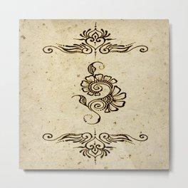 Henna Inspired 4 Metal Print