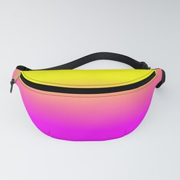 Neon Yellow and Bright Hot Pink Ombré  Shade Color Fade Fanny Pack