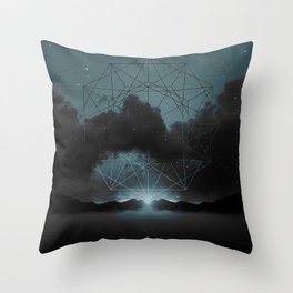 Beyond the Fog Lies Clarity | Midnight Throw Pillow