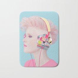 Rubik's headphones Bath Mat
