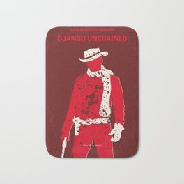 No184 My Django Unchained minimal movie poster Bath Mat