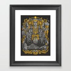 IBERIAN HECATE gray Framed Art Print