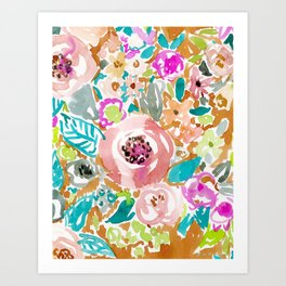 SO LUSCIOUS Colorful Abstract Floral Art Print