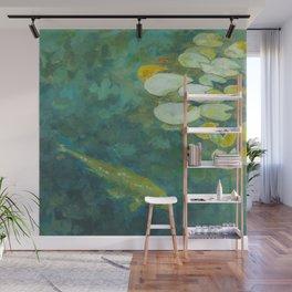 Serene koi lily pond Wall Mural