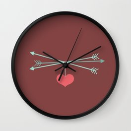 Captured Arrows Wall Clock