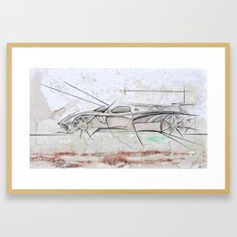 Cardesign Sketch Artwork Framed Art Print