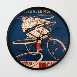 Vintage poster - Tire Advertisement Wall Clock