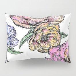 Floating Flowers Pillow Sham