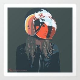 orange (from a photo by Sebastien Zanella) Art Print
