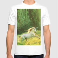 Horsey Business. Mens Fitted Tee MEDIUM White