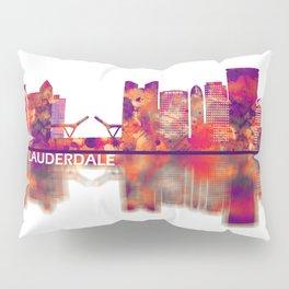 Fort Lauderdale Florida Skyline Pillow Sham