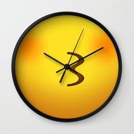 Kissing Kissy Cute Yellow Emoji Face Wall Clock
