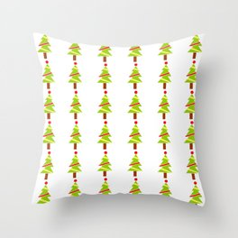 Christmas tree 3 Throw Pillow
