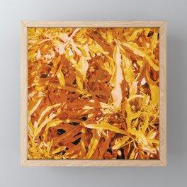 Yellow Garden Flowers Framed Mini Art Print