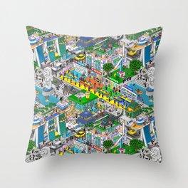 Pixels X Singapore Throw Pillow