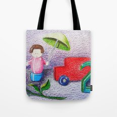 Crayon Love Toys I've Stepped On Tote Bag