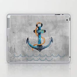 Maritime Design- Nautic Anchor Navy Marine Beach Laptop & iPad Skin