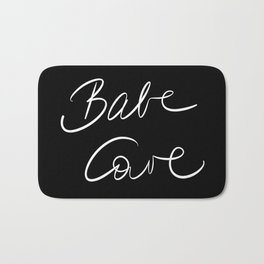 Babe Cave - Black and White Bath Mat