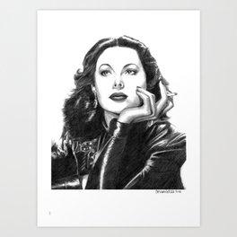 Hedy Lamarr portrait Art Print