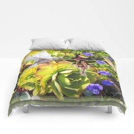 Rosette Succulent Visitors Comforters