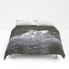 Swan's Lake - Preening Trumpeter Swan Comforters