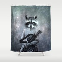 gangster Shower Curtains featuring Gangster by ppatphoto