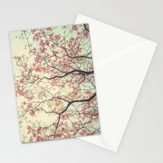 Pink Dogwood Tree Branches in Spring Stationery Cards