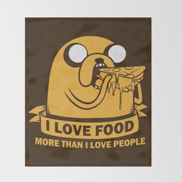 i love food more than i love people Throw Blanket