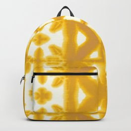Yellow Pima Shibori Backpack