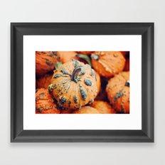 Gnarly Pumpkin Framed Art Print