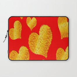 Curline hearts-Red Laptop Sleeve