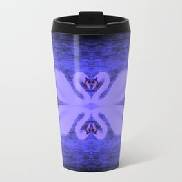Swans in Love (in a purple haze) Travel Mug
