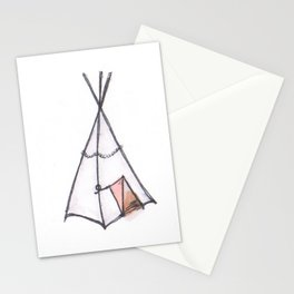 Whimsical Teepee Stationery Cards