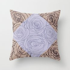 Art Nouveau Rose Throw Pillow