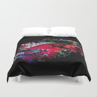 lamborghini Duvet Covers featuring cars  by mark ashkenazi