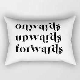 onwards upwards forwards Rectangular Pillow