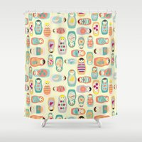 russia Shower Curtains featuring Russia by LaPenche