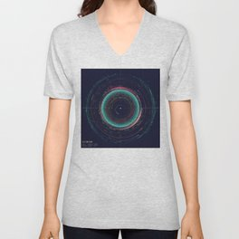An Asteroid Map of the Solar System Unisex V-Neck