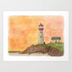 Lighthouse #4 Art Print